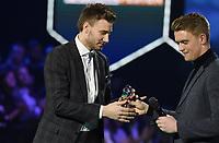 Fotball , 27. november 2017 , Fotballfesten 2017  , Eliteserien , OBOSligaen<br /> Prisvinnere: <br /> Nicklas Bendtner  årest toppscorer her med Kristian Fardal Opseth