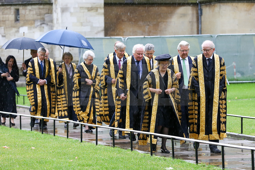 © Licensed to London News Pictures. 01/10/2019. London, UK. Baroness Hale of Richmond, President of the Supreme Court and the Justices of the Supreme Court arrive at the Westminster Abbey to attending the annual service to mark the start of the legal year. The start of the new legal year is marked with a traditional religious service in Westminster Abbey followed by a procession to The Houses of Parliament where the Lord Chancellor hosts a reception.  Photo credit: Dinendra Haria/LNP