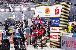 01.03.2019, Seefeld, AUT, FIS Weltmeisterschaften Ski Nordisch, Seefeld 2019, Skisprung, Herren, im Bild Ryoyu Kobayashi (JPN), Goldmedaillengewinner und Weltmeister Dawid Kubacki (POL) // Ryoyu Kobayashi of Japan , Gold Medalist and worldchampion Dawid Kubacki of Poland during the men's Skijumping of FIS Nordic Ski World Championships 2019. Seefeld, Austria on 2019/03/01. EXPA Pictures © 2019, PhotoCredit: EXPA/ JFK