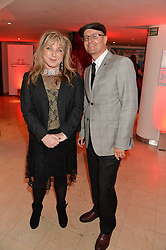 HELEN LEDERER and PAUL BURSTON at the Costa Book Awards 2013 held at Quaglino's, 16 Bury Street, London on 28th January 2014.