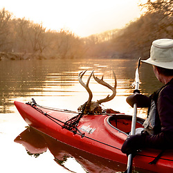 Mark paddling with a rack
