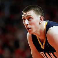 16 April 2011: Indiana Pacers power forward Tyler Hansbrough (50) rests during the Chicago Bulls 104-99 victory over the Indiana Pacers, during the game 1 of the Eastern Conference first round at the United Center, Chicago, Illinois, USA.