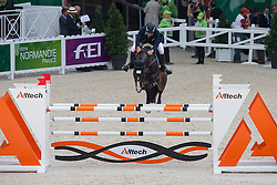 Martin Dopazo, (ARG), Cedric Z - Team & Individual Competition Jumping Speed - Alltech FEI World Equestrian Games™ 2014 - Normandy, France.<br /> © Hippo Foto Team - Leanjo De Koster<br /> 02-09-14