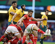 Rhys Webb of Wales in action.  Under Armour 2016 series international rugby, Wales v Australia at the Principality Stadium in Cardiff , South Wales on Saturday 5th November 2016. pic by Andrew Orchard, Andrew Orchard sports photography