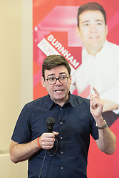 © Licensed to London News Pictures. 07/01/2017. Manchester, UK.  ANDY BURNHAM , Labour Party candidate for Mayor of Greater Manchester, launches his ground campaign and sets out his campaign policy, with party activists, at the Mechanics' Institute in Manchester. The election for Greater Manchester Mayor will take place in May. It will be represent the largest regional devolution of finance and power in England, to date. Photo credit: Joel Goodman/LNP