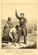 Emancipation of the Slaves 1862. President Abraham Lincoln, 16th President of the United States of America.