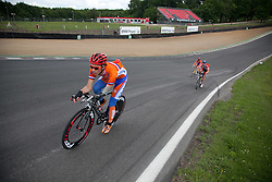 © Licensed to London News Pictures. 19/06/12. Brands Hatch, Kent. Dutch Paralympic cyclist trains at Brands Hatch, Kent. Up to 150 international athletes come to train at the race circuit at Brands Hatch in Kent for the Paralympic Road Cycling competition taking place on 5-8 September 2012. Picture credit should read Manu Palomeque/LNP