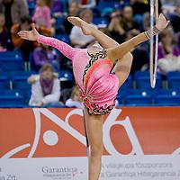 Anna Gurbanova (AZE) performs with the hoop during the final of the 2nd Garantiqa Rythmic Gymnastics World Cup held in Debrecen, Hungary. Sunday, 07. March 2010. ATTILA VOLGYI