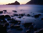 Twilight at Pfeiffer Beach, Big Sur, California