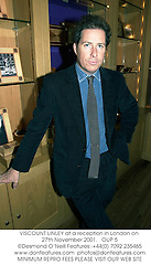 VISCOUNT LINLEY at a reception in London on 27th November 2001.<br />
