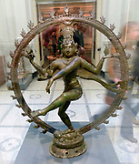 Shiva Nataraja, Lord of the Dance (900-50).  Copper Alloy. Southern India. Late Pallava/early Chola period. Shiva holds the drum, associated with sound and energy, in his upper right hand the flame in his upper left hand, balancing his roles as creator an