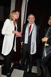 PRINCESS TATIANA OF GREECE and her father in law HM KING CONSTANTINE OF GREECE at a fashion show featuring designs from Celia Kritharioti Spring/Summer 2012 collection held at One Mayfair, London on 20th March 2012.