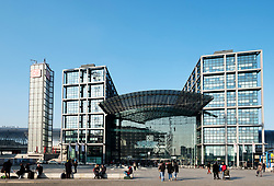 View of Hauptbahnhof railway station in Berlin, Germany