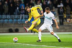 Bojan Jokic (SLO) vs Andriy Yarmolenko (UKR) during the UEFA EURO 2016 Play-off for Final Tournament, Second leg between Slovenia and Ukraine, on November 17, 2015 in Stadium Ljudski vrt, Maribor, Slovenia. Photo by Ziga Zupan / Sportida
