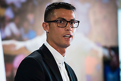 Soccer player Cristiano Ronaldo renews his contract with Real Madrid until 2021 at Santiago Bernabeu Stadium in Madrid, Spain, on November 07, 2016. Photo by Borja B.Hojas/AlterPhotos/ABACAPRESS.COM
