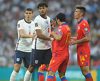 Football - 2022 FIFA World Cup - European Qualifying - Group I - England vs Andorra - Wembley Stadium - Sunday 5th September 2021<br /> <br /> Tyrone Bings and Conor Coady of England <br /> <br /> Credit : COLORSPORT/Andrew Cowie