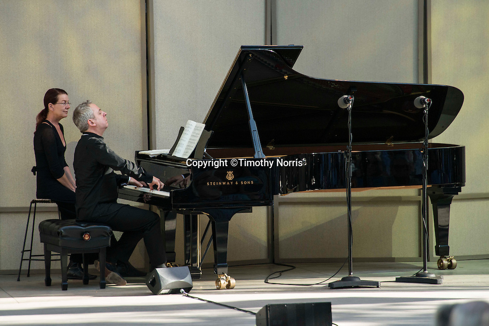 Music Director Jeremy Denk performs Ligeti's Piano Études Books I & II at the 68th Ojai Music Festival at Libbey Bowl on June 15, 2014 in Ojai, California.
