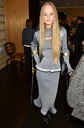 JEAN CAMPBELL at the Louis Vuitton for Unicef Event #MAKEAPROMISE held at The Apartment, 17-20 New Bond Street, London on 14th January 2016.