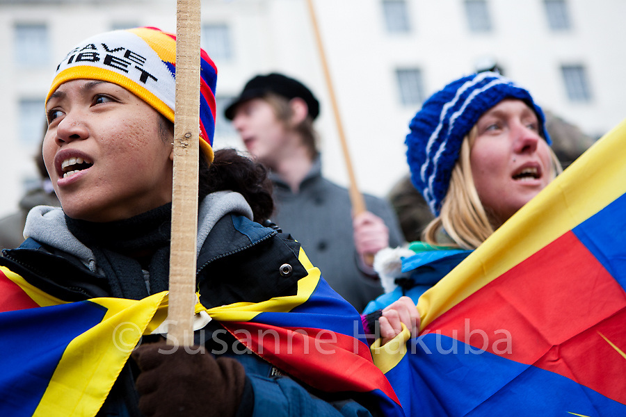 Olympic Torch China Tibet Protest, London, UK