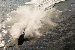October 5, 2018 - London, London, United Kingdom - Man Riding a Whale Shaped Jet-Ski Submarine. ..Man riding a whale shaped jet-ski submarine along London's River Thames. (Credit Image: © Dinendra Haria/i-Images via ZUMA Press)