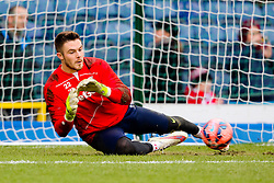 Stoke City's Jack Butland warms up - Photo mandatory by-line: Matt McNulty/JMP - Mobile: 07966 386802 - 14/02/2015 - SPORT - Football - Blackburn - Ewood Park - Blackburn Rovers v Stoke City - FA Cup - Fifth Round