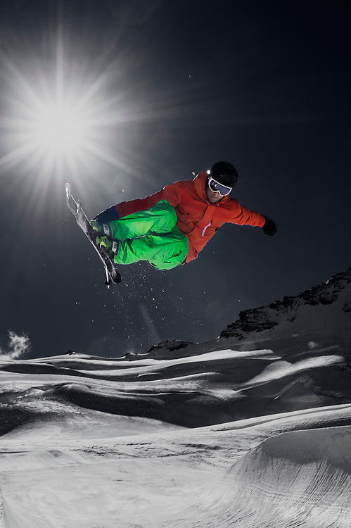 A collection of skiing images and front covers shot over the last 25 years from various mountain ranges around the world.
