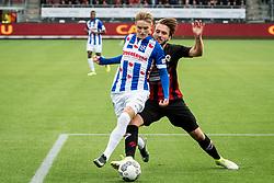 (L-R) Martin Odegaard of sc Heerenveen, Milan Massop of Excelsior during the Dutch Eredivisie match between sbv Excelsior Rotterdam and sc Heerenveen at Van Donge & De Roo stadium on September 16, 2017 in Rotterdam, The Netherlands