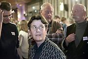 Nederland, Arnhem, 18-3-2015Uitslag provinciale staten verkiezingen in het provinciehuis.Marjolein Faber en anderen van de PVV kijken naar de eerste utslagen.Foto: Flip Franssen