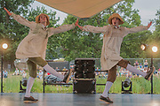 Country from Town and Country by Matthew Bourne performed by New Adventures for Sadlers Wells on the Waterfront Stage - The 2017 Latitude Festival, Henham Park. Suffolk 15 July 2017