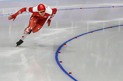 February 23, 2018 - Pyeongchang, Gangwon, South Korea - Piotr Michalski of  Poland. at 1000 meter speedskating at winter olympics, Gangneung South Korea on February 23, 2018. (Credit Image: © Ulrik Pedersen/NurPhoto via ZUMA Press)