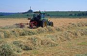 AT5CJ6 Tractor hay making Butley Suffolk England