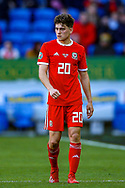 Wales midfielder Daniel James during the UEFA European 2020 Qualifier match between Wales and Slovakia at the Cardiff City Stadium, Cardiff, Wales on 24 March 2019.