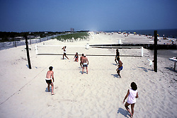 D. Ross Cameron 7/87<br /> <br /> Beach volleyball, Deauville Beach, Rehoboth Beach, Del., looking north.