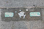 Decorative trail markers Bayfront Park Sarasota, Florida