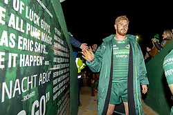 November 3, 2018 - Galway, Ireland - Darragh Leader of Connacht thanks his fans during the Guinness PRO14 match between Connacht Rugby and Dragons at the Sportsground in Galway, Ireland on November 3, 2018  (Credit Image: © Andrew Surma/NurPhoto via ZUMA Press)