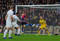 Football - 2018 / 2019 Premier League - Crystal Palace vs. Burnley<br /> <br /> James McArthur's cross goes directly into the net past Joe Hart for his first half goal after Max Meyer failed to connect to the shot of Palace  at Selhurst Park.<br /> <br /> COLORSPORT/ANDREW COWIE