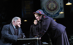 Major Barbara<br /> by Bernard Shaw<br /> at the Olivier Theatre, Southbank, London, Great Britain<br /> press photocall<br /> 3rd March 2008<br /> <br /> Simon Russell Beale (as Andrew Undershaft)<br /> Maggie McCarthy (as Mrs Baines)<br /> Katherine Burford (as Jenny Hill)<br /> <br /> Photograph by Elliott Franks