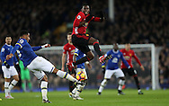 Ashley Williams of Everton and Paul Pogba of Manchester United during the Premier League match at Goodison Park, Liverpool. Picture date: December 4th, 2016.Photo credit should read: Lynne Cameron/Sportimage