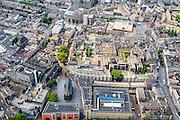 Nederland, Gelderland, Nijmegen, 26-06-2013; binnenstad Nijmegen. Rechts  met Burchtstraat, onder links Marienburg.<br /> Town of Nijmegen.<br /> luchtfoto (toeslag op standaard tarieven);<br /> aerial photo (additional fee required);<br /> copyright foto/photo Siebe Swart.