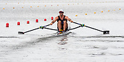 Poznan, POLAND, 21st June 2019, Friday, Morning Heats, NZL M1X. Robbie MANSON, FISA World Rowing Cup II, Malta Lake Course, © Peter SPURRIER/Intersport Images,<br /> <br /> 12:21:07