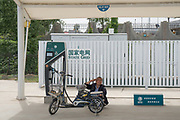 Motorway service station outside Beijing, charging point for hybrid anmd electric vehicles, Hebei province