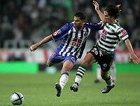 """LISBOA 21 MARCH 2005: # and # in the 26 leg of the Super Liga, season 2004/2005, match  Sporting CP (2) vs FC Porto (0), held in """"Alvalade XXI"""" stadium,  21/03/2005  20:59:29<br /> (PHOTO BY: NUNO ALEGRIA/AFCD)<br /> <br /> PORTUGAL OUT, PARTNER COUNTRY ONLY, ARCHIVE OUT, EDITORIAL USE ONLY, CREDIT LINE IS MANDATORY AFCD-PHOTO AGENCY 2004 © ALL RIGHTS RESERVED"""