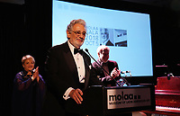 Opera Maestro Plácido Domingo, the first honoree of the LEGADO: A Legacy for the Arts Award speaks during the MOLAA Gala 2018 held at Museum Of Latin American Art on October 05, 2018 in Long Beach, California, United States (Photo by JC Olivera)