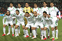 Fotball<br /> 20.06.2009<br /> Confederations Cup<br /> Irak v New Zealand<br /> Foto: Gepa/Digitalsport<br /> NORWAY ONLY<br /> <br /> Bild zeigt (hinten von links) Salam Shaker, Mohammed Ali Karim, Mohammed Kassid, Ali Hussein Rehema, Nashat Akram, Younis Mahmoud (vorne von links) Hawar Mulla Mohammed, Karrar Jasim, Emad Mohammed, Basem Abbas und Mahdi Kareem (IRQ)<br /> <br /> Lagbilde Irak
