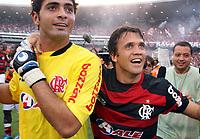 20091206: RIO DE JANEIRO, BRAZIL - Flamengo vs Gremio: Brazilian League 2009 - Flamengo won 2-1 and celebrated the 6th Brazilian Championship of its history. In picture: Petkovic (Flamengo, R) celebrating victory. PHOTO: CITYFILES
