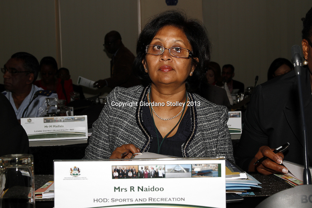 DURBAN - 20 August 2013 - Rohini Naido, the head of the KwaZulu-Natal Sport and Recreation department attends a provincial cabinet lekgotla (meeting) to review the work of the provincial government in the past year and what it needs to achieve in the coming year. Picture: Giordano Stolley