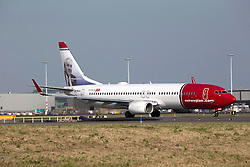 © under license to London News Pictures.<br />  FILE PICTURE:. Norwegian Airlines Low Cost Airline Photo credit : IAN SCHOFIELD/LNP