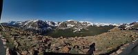 Panorama from Trail Ridge Road. Rocky Mountain National Park. Composite of eight images taken with a Nikon D200 camera and 14 mm f/2.8 lens (ISO 100, 14 mm, f/11, 1/160 sec).