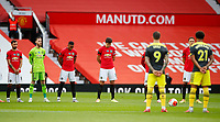 Football - 2019 / 2020 Premier League - Manchester United vs Southampton<br /> <br /> Harry Maguire of Manchester United takes part in minutes silence for Jack Charlton  at Old Trafford<br /> <br /> COLORSPORT/LYNNE CAMERON