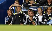Photo: Richard Lane/Sportsbeat Images.<br />Chelsea v Rosenborg. UEFA Champions League Group B. 18/09/2007. <br />Chelsea manager, Jose Mourinho shouts the orders.